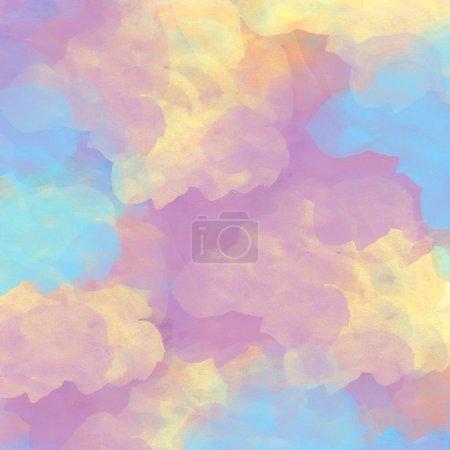Photo pour Grunge abstrait aquarelle colorée peinture à la main fond - image libre de droit