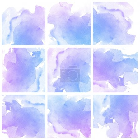 Photo for Set of colorful Abstract water color art hand paint background - Royalty Free Image
