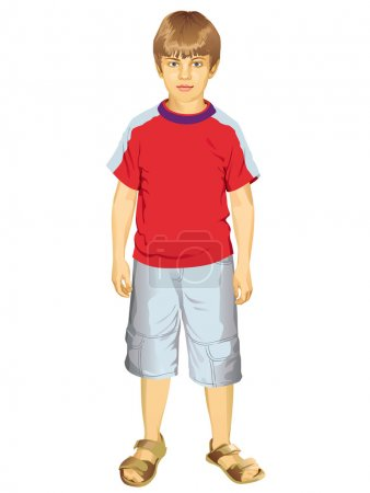 Full Length Portrait Of A Little Boy Standing
