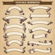 Vintage Ribbon Banners Vector Collection...