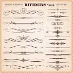 Set of vector vintage calligraphic design elements...