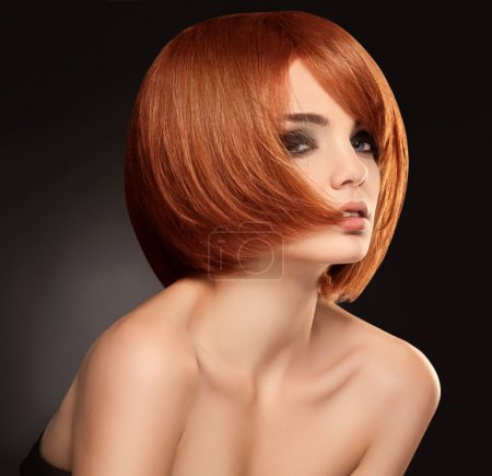 Photo for Red hair. Beautiful Woman with Short Hair. High quality image. - Royalty Free Image