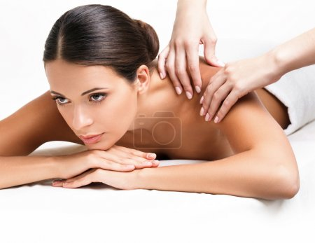 Photo for Spa Woman. Close-up of a Beautiful Woman Getting Spa Treatment. Massage - Royalty Free Image