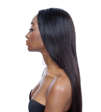 Photo for Young African beauty with long shiny hair - Royalty Free Image