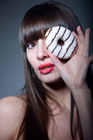 Girl with donut