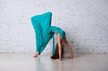 Dancer doing a yoga pose