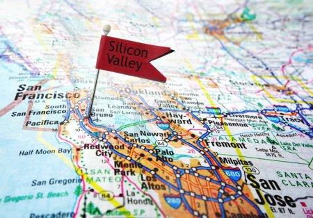 Foto de Mapa de la zona de silicon valley de california - Imagen libre de derechos