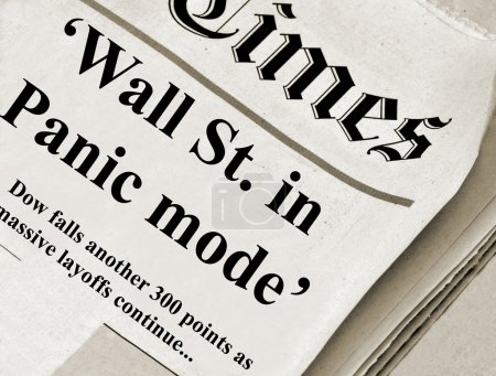 The Wall St. in panic mode