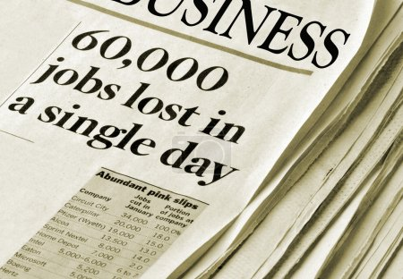 Sixty Thousand Jobs Lost in a single day