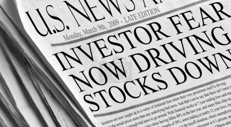 Investor fear now driving stocks down