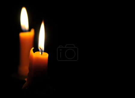 Several burning candles