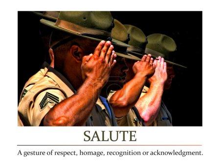 Photo pour Salut. Un geste de respect, d'hommage, de reconnaissance ou de reconnaissance - image libre de droit