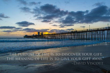 Sunset at the Oceanside Pier, California