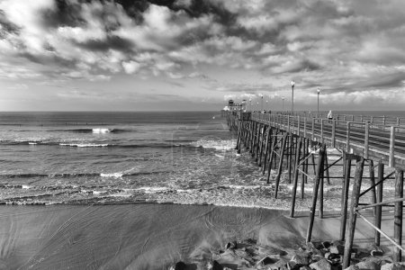 Wooden pier in Southern California
