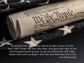 Amerikai alkotmány amerikai zászló