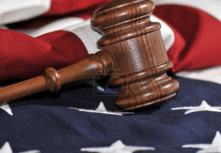 Gavel and American flag