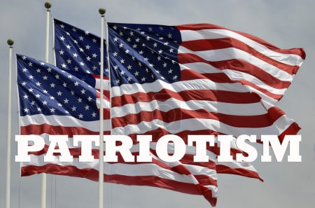 Patriotism and American flags