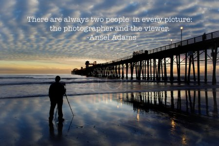 Oceanside Pier with photographer