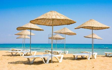 Photo pour Plage d'été à Famagusta, Chypre - image libre de droit