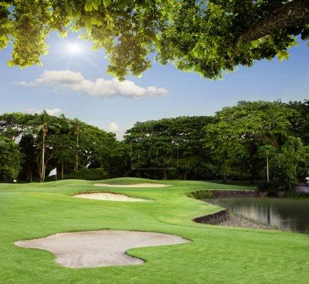 Photo pour Terrain de golf à Bali - image libre de droit