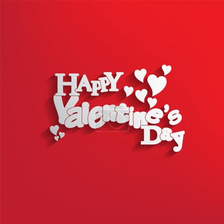 Illustration for Valentines Day background with letter design with a nice text. - Royalty Free Image