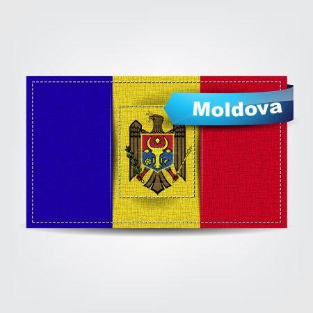 Fabric texture of the flag of Moldova