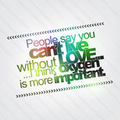 Oxygen is more important than love