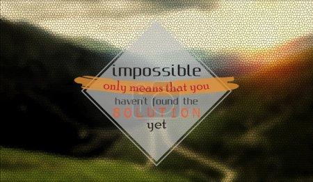 Illustration pour Impossible signifie seulement que vous n'avez pas encore trouvé la solution. Contexte motivationnel - image libre de droit