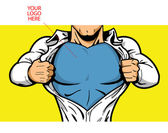 Superhero Chest for Your Logo