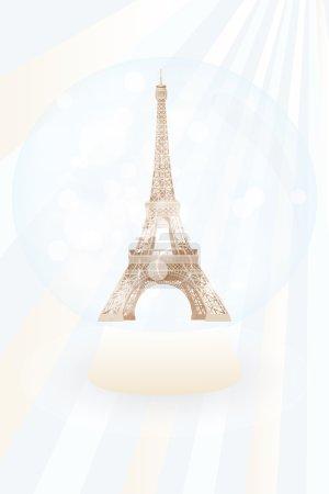 Snow globe with Eiffel tower