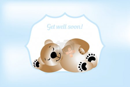 Get well soon card with bear