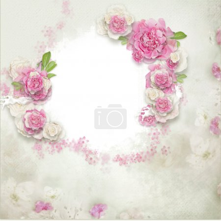 Frame of flowers