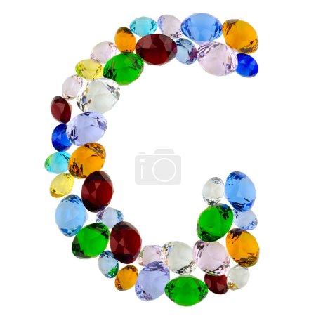 Letter G of gems