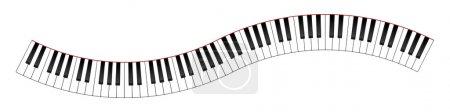 Illustration pour Courbé illustration de clavier de piano - image libre de droit