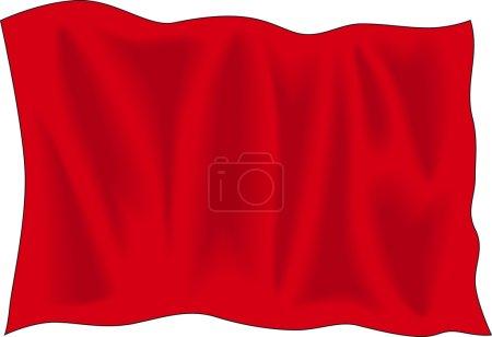 Illustration pour Drapeau rouge F1 - image libre de droit