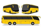 A illustration of yellow coaches set