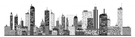Illustration for A panorama picture of city skyline - Royalty Free Image