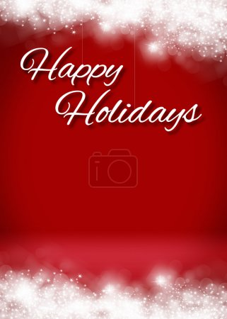 Photo for Snow Happy Holidays Blank 3D Greeting Card Background Template - Royalty Free Image