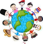 Multicultural children on planet earth
