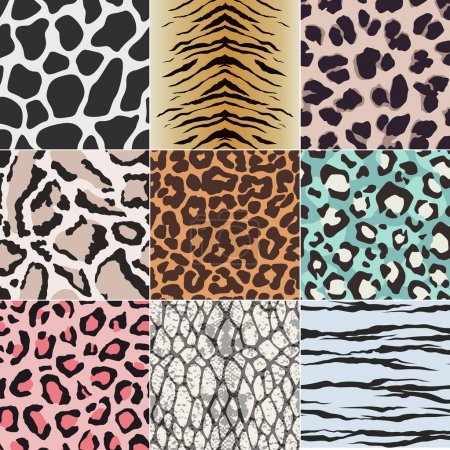 Illustration for Seamless animal skin fabric textile pattern - Royalty Free Image