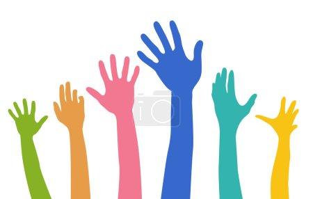 Illustration for Diversity Hands - Royalty Free Image