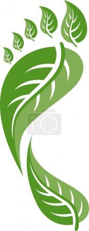 Illustration for Eco Friendly Footprint Illustration - Royalty Free Image