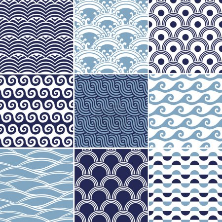 Illustration for Seamless ocean wave pattern - Royalty Free Image