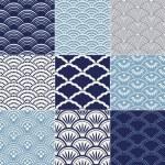 Japanese seamless ocean wave pattern...