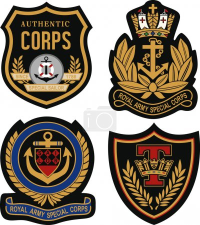 Illustration for Royal emblem badge shield - Royalty Free Image