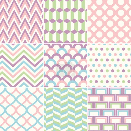 Illustration for Seamless Retro Pattern Print - Royalty Free Image