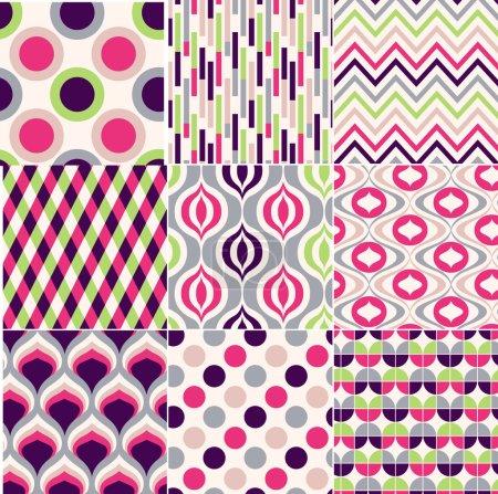 Illustration pour Modèle géométrique sans couture coloré - image libre de droit
