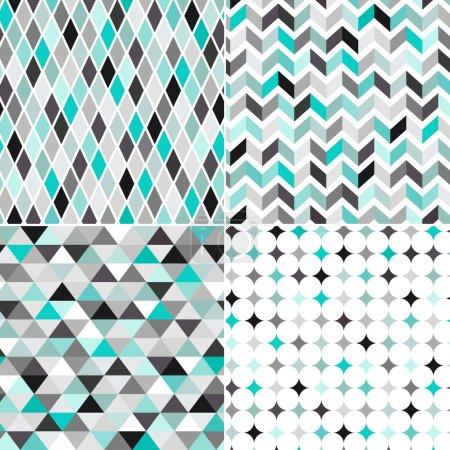 Seamless turquoise geometric pattern