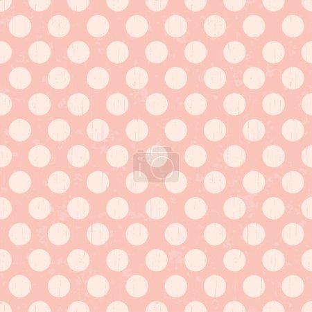 Illustration for Seamless retro dot pattern background - Royalty Free Image