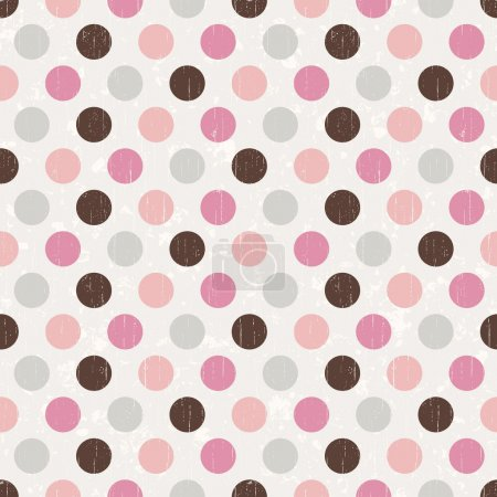 Seamless retro dot pattern background